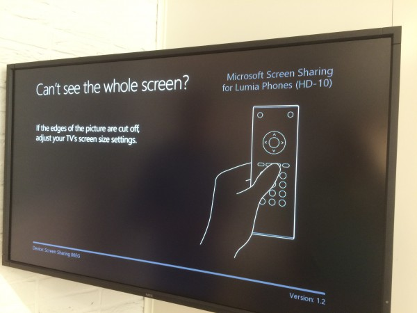 Microsoft Screen Sharing for Lumia Phones HD-10:n käyttöönottoa