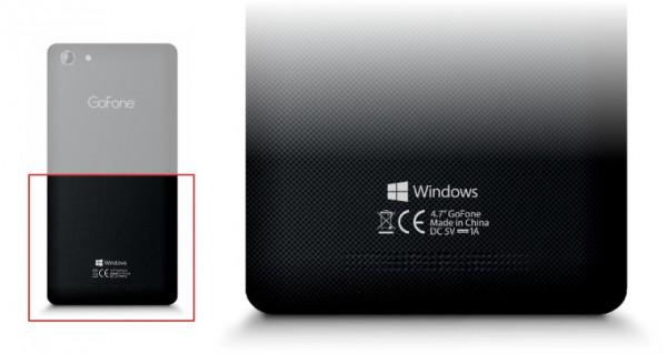 Brittiläisen My Gon GoFone käyttää Windows Phonen sijaan pelkkää Windows-brändiä