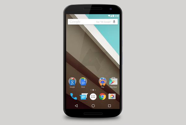 Android Policen kuvaelma Nexus 6:sta