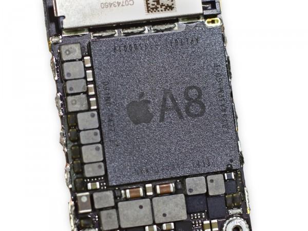 iPhone 6 - ja 6 Plus -malleihin A8-piirejä valmistavat TSMC ja Samsung. Kuva: iFixit