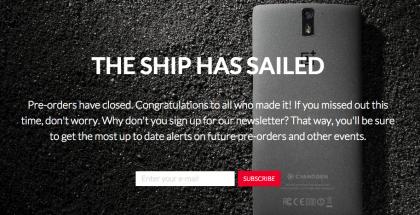 OnePlus Onene ensimmäinen ennakkotilauskierros on nyt takana päin