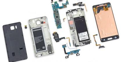 Samsung Galaxy Alpha iFixitin syynissä