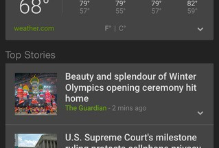 Google News & Weather iOSilla