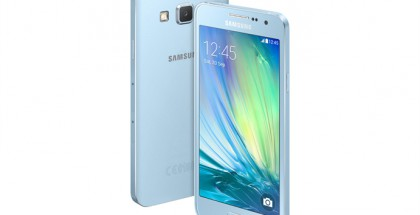 Galaxy A3 Light Blue -värissä