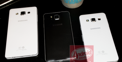 Vasemmalta lukien: Galaxy A5, Galaxy Alpha, Galaxy A3