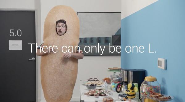 Kuvakaappaus Googlen Android 5.0 -teaser-videolta