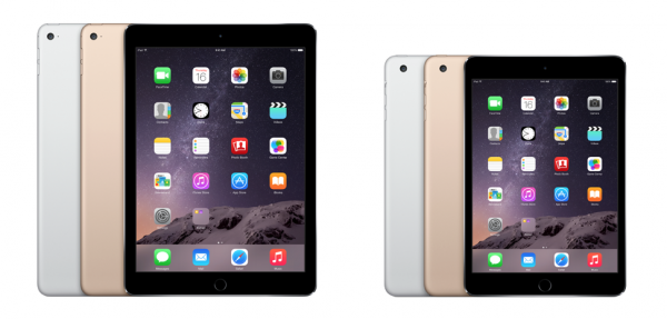 iPad Air 2 ja iPad mini 3