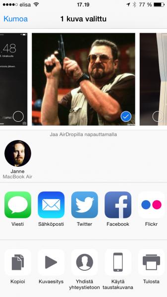 AirDropilla siirtyvät esimerkiksi hassut kuvat kätevästi iOS- ja Mac-laitteiden välillä