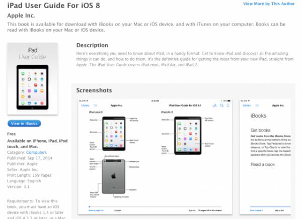 iPad mini 3 sekä iPad Air 2 mainitaan Applen käyttöoppaassa jo ennen niiden virallista julkaisua