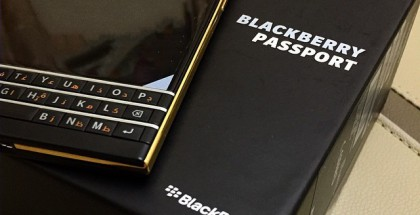 BlackBerry Passport kullattuna