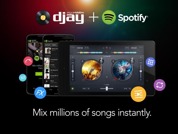 Spotify-yhteistyö on ollut merkittävä Djay-sovellukselle.