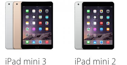 iPad mini 3 vs. iPad mini 2