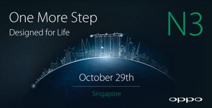 Oppo N3 esitellään 29. lokakuuta Singaporessa