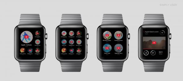 Taiteilijan näkemys YouTube-sovelluksen Apple Watch -versiosta