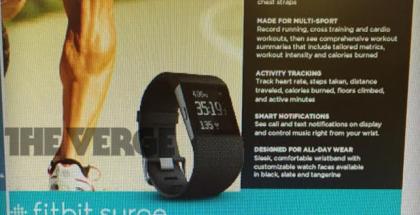 Fitbit Surgen vuodetut markkinointimateriaalit