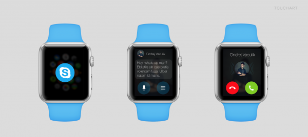 Taiteilijan näkemys Skype-sovelluksen Apple Watch -versiosta