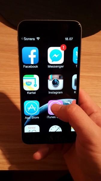 iPhone 6 Plus ja zoomattu käyttöjärjestelmä