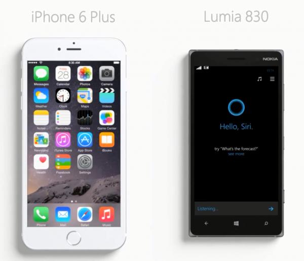 iPhone 6 Plus vs. Lumia 830