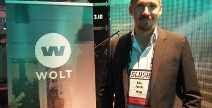 Slush-päällikkö Miki Kuusen lisäksi Woltin perustajiin lukeutuu firmaa ständillä edustanut Elias Pietilä, yksi Suomen ensimmäisiä ja arvostetuimpia iPhone-sovelluskehittäjiä