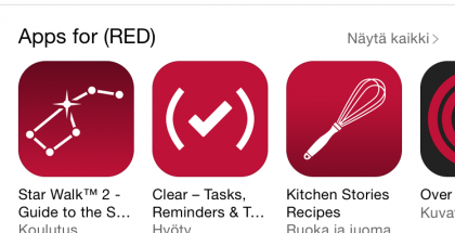 Applen Product (RED) -kampanja App Storessa