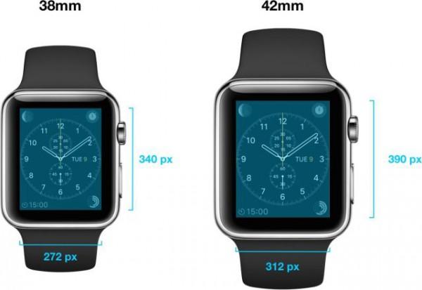 Apple Watch tulee saataville kahdella erikokoisella Retina-näytöllä