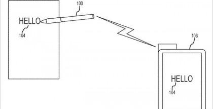 Applen patenttikuvaus stylukselle, joka siirtää paperille tai taululle kirjoitetut muistiinpanot digitaaliseen muotoon.