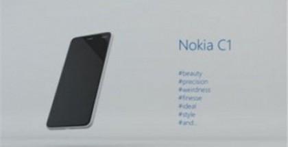 Väitetty Nokia C1 -puhelin