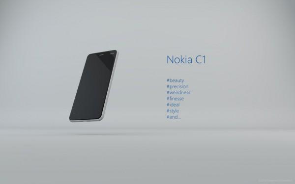 Nokia C1 -konseptikuva esittää, miltä N1-tablettia seuraava matkapuhelin voisi näyttää