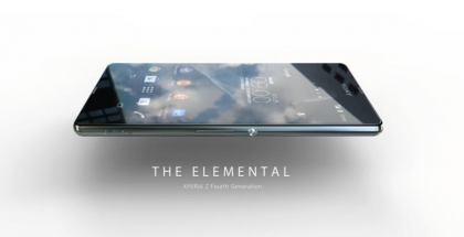 Oletettu Xperia Z4 konseptikuvassa