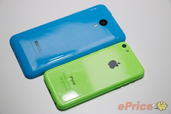 Meizu M1 Note ja Apple iPhone 5C