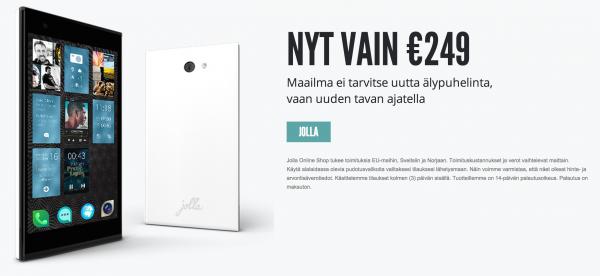 Jollan hinta on nyt 249 euroa yhtiön omassa verkkokaupassa