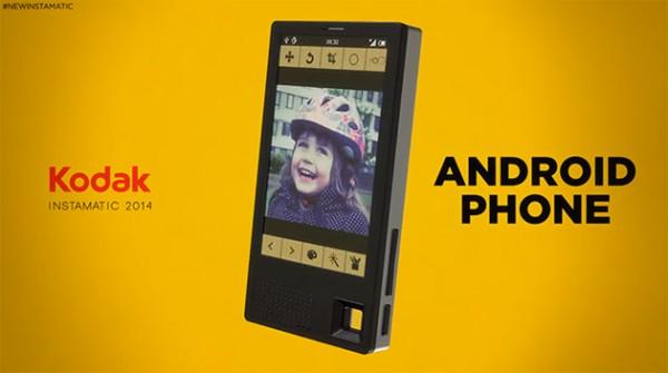 Konseptikuva Kodak-puhelimesta