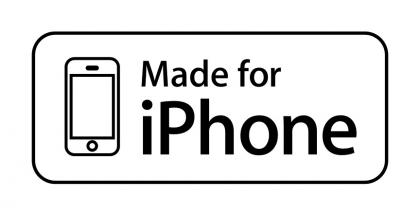 iPhonelle virallisesti suunnitellun apulaitteen tunnistaa tästä logosta