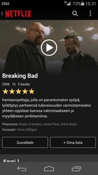 Kaverisuositukset saapuivat myös Netflixin Android-versioon