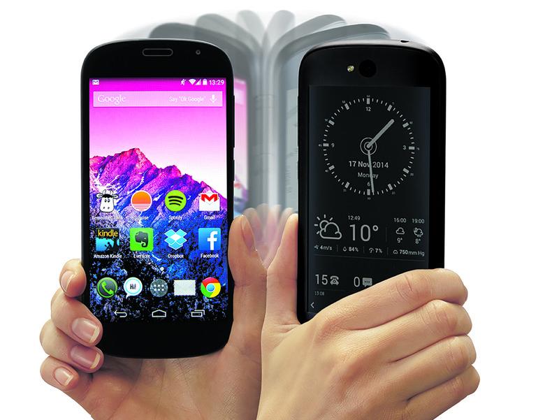 Muutaman vuoden takainen YotaPhone 2.