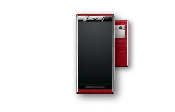 Vertu Diamons Red Alligator