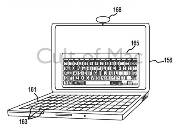 Patenttihakemuksessa visioidaan vaihtuvaa näppäimistöä MacBookille.