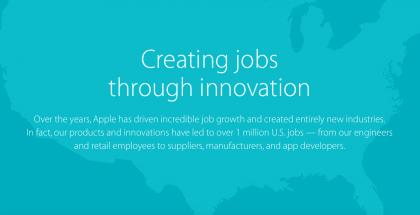 Applen mukaan jopa yli miljoona ihmistä Yhdysvalloissa työllistyy sen menestyksen pohjalta.
