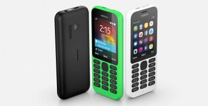 Nokia 215 on yksi esimerkki markkinoilla olevista Nokia-peruspuhelimista.