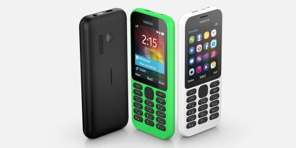 Nokia 215 eri väreissä