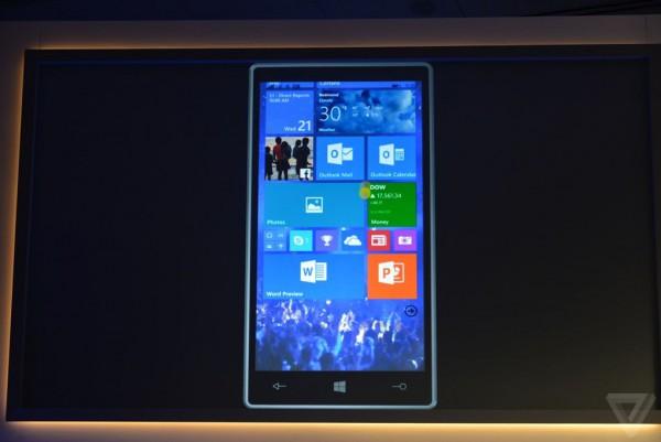 Windows 10 puhelimella  Kuva: The Verge