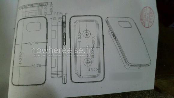 Vuotokuvassa vielä julkaisemattoman Galaxy S6:n suojakotelo mittoineen