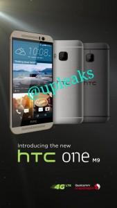 @upleaksin vuotama kuva HTC One M9:stä