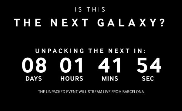 Samsung lisäsi sivuilleen laskurin, joka laskee aikaa ennen seuraavan Galaxy-huippumallin julkistustilaisuutta.