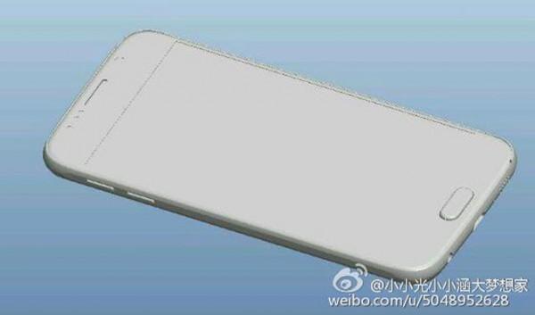 Galaxy S6:n mahdollinen design