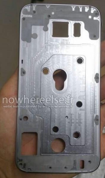 Samsung Galaxy S6:n alumiinirunko vuotokuvassa