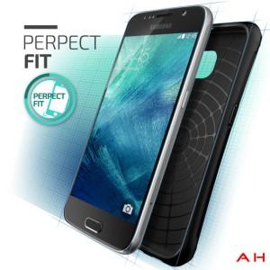 Galaxy S6:n oletettu design suojakuorta mainostavassa kuvassa