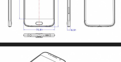 Sasung Galaxy S6:n vuotaneet mitat.
