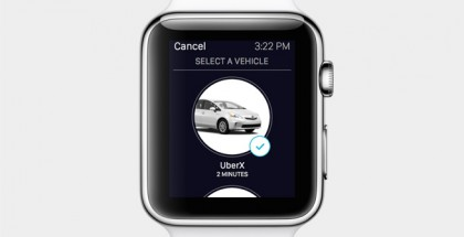 Uberin sovellus Apple Watchille.