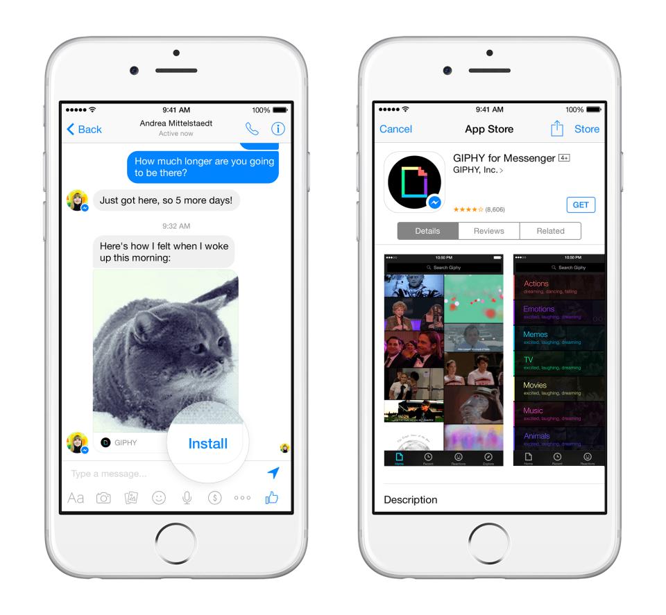 Messenger Platform mahdollistaa muiden sovellusten yhdistämisen Facebookin Messenger-sovellukseen. Luvassa siis lisää kuvia, videoita, animaatioita, ääntä ja ehkä joskus jotain hyödyllistäkin.